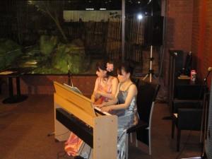 1月28日のピアノデュオのコンサートにて