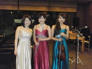 フルート、バイオリン、ピアノのアンサンブルコンサートにて