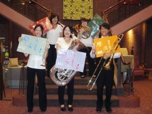金管五重奏「響宴 Hibiki」によるロビーコンサートにて♪
