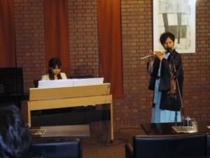 横笛とピアノのコンサートにて♪