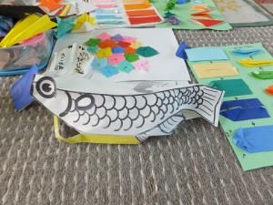 折紙で使った魚