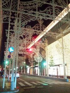 点灯前のルミナリエ