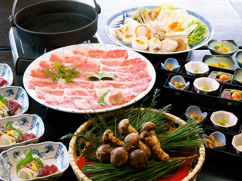 必見!松茸と三田和牛のすき焼きプラン♪