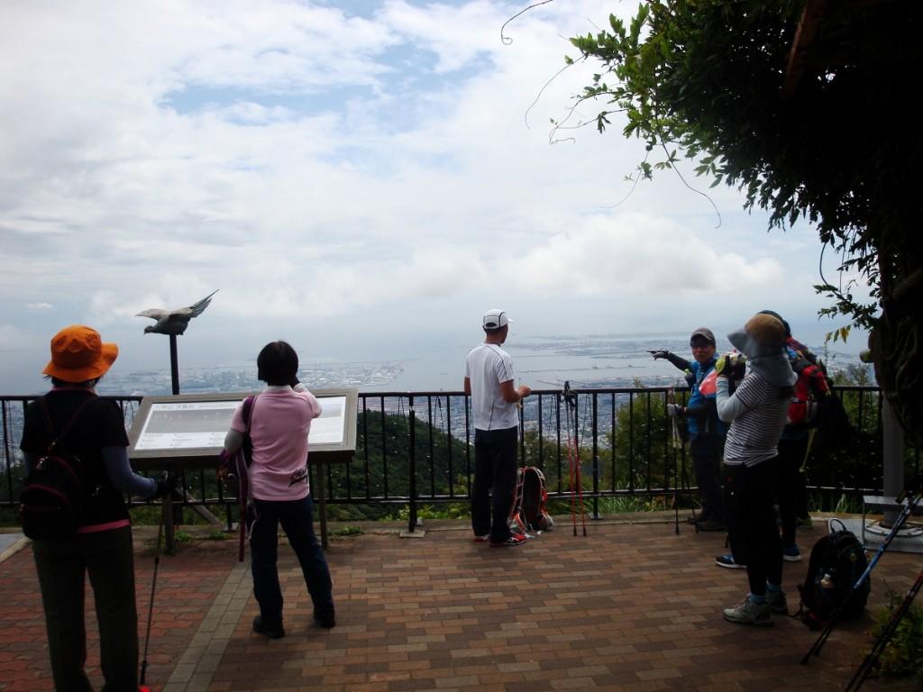 天覧台から神戸市中心部を望む
