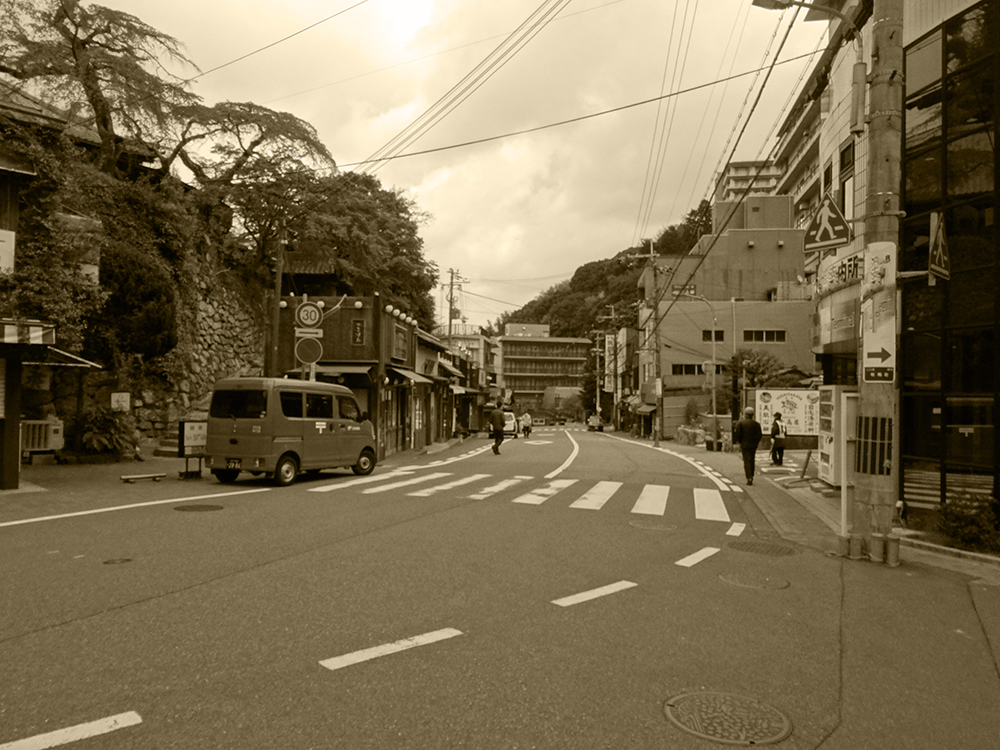 "Scenery of Arima ONSEN ""TAIKO-Street in the GW"""