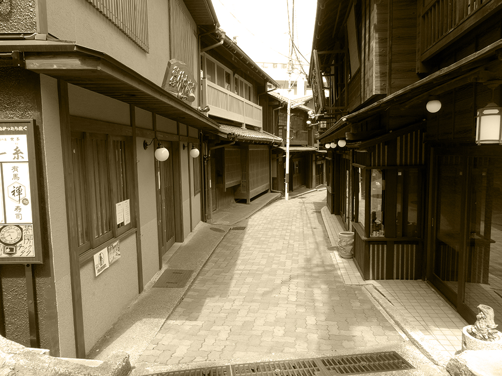"Scenery of Arima ONSEN ""YUMOTO-slope in the GW""④"